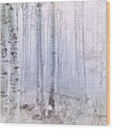 Love Amidst The Aspens Wood Print