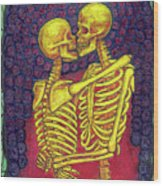Love And Death Wood Print