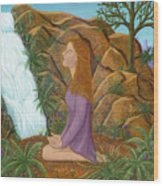 Love And Gratitude Meditation - Illustration #13 In The Infinite Song Wood Print