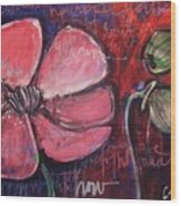 Love And Live With Purpose Poppies Wood Print