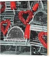 Love And Lobster Wood Print