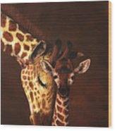 Love And Pride Giraffes Wood Print
