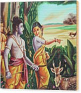 Love And Valour- Ramayana- The Divine Saga Wood Print