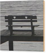 Love Bench Wood Print