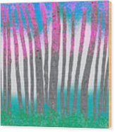 Love Birch Wood Print