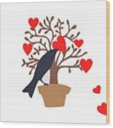 Love Bird Part 2 Wood Print