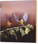 Love Birds By John Junek  Wood Print