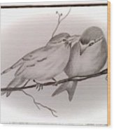 Love Birds Wood Print by Ginny Youngblood