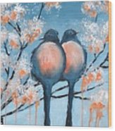 Love Birds Wood Print by Holly Donohoe