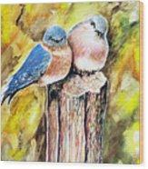 Love Birds Wood Print