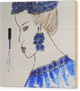 Love Blue Wood Print