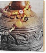 Love Bracelet On Wooden Vase Wood Print
