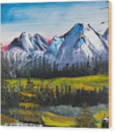 Love Can Move Mountains Wood Print