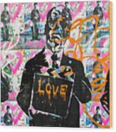 Love Chaplin Wood Print