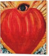 Love Comes From Within Is Forever By V.sisk Wood Print