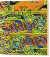 Love Contest Wood Print