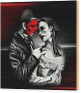 Love Couple 2 Wood Print