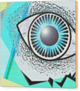 Love Eye Wood Print