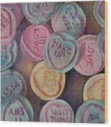Love Hearts Wood Print