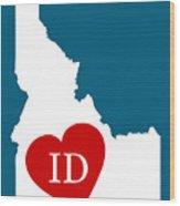 Love Idaho White Wood Print