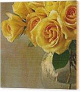 Love In A Vase Wood Print