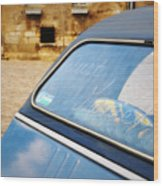 Love In Blue Wood Print