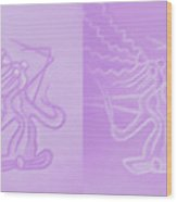 Love In Lilac Wood Print