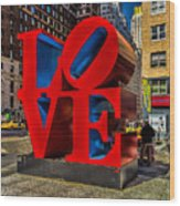 Love In Nyc Wood Print