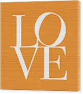 Love In Orange Wood Print by Michael Tompsett