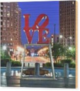Love In Philly Wood Print