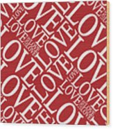 Love In Red Wood Print by Michael Tompsett