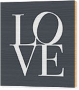 Love In Slate Grey Wood Print by Michael Tompsett