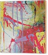 Love In Space Wood Print by Robert Daniels