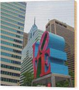 Love In The City - Philadelphia Wood Print