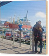 Love In The Port Of Valpaparaiso-chile Wood Print