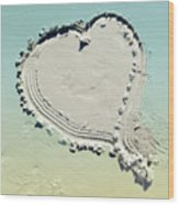 Love In The Sand Wood Print