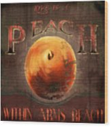 Love is a Peach Wood Print