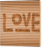 Love Is All Wood Print