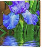 Love Is Blue 2 Wood Print