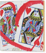 Love Is In The Cards Wood Print