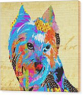 Love Is In The Dog's Eyes  Wood Print
