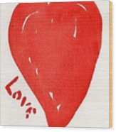 Love Is.... Wood Print by Roger Cummiskey