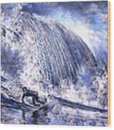 Love Is The Seventh Wave Wood Print