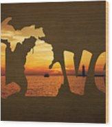 Love Lake Michigan Wood Print