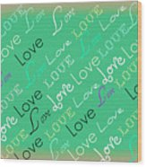 Love Letters Wood Print