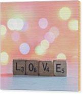 Love Lights Square Wood Print