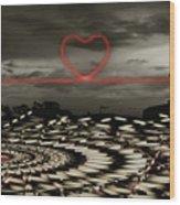Love Lines Wood Print