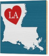 Love Louisiana White Wood Print