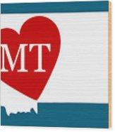 Love Montana White Wood Print