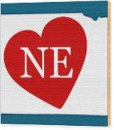 Love Nebraska White Wood Print